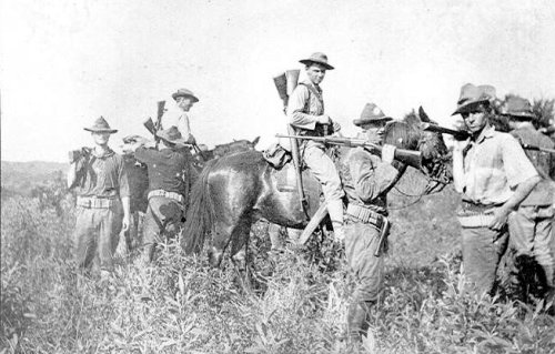 Copy of Bauan, Batangas after fight Troop K 1st Cav Nov 12 1901
